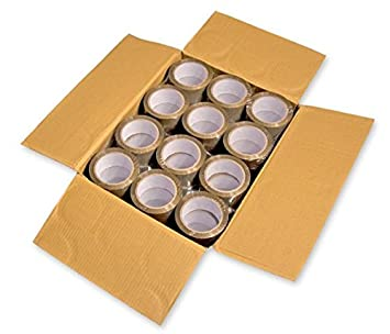 24 Rollen Paketband Paketklebeband braun Packband PP-Folie Verpackungsklebeband