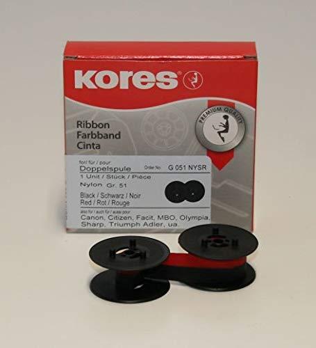 Kores Farbband Canon//OLYMPIA Gruppe 51 schwarz//rot Nylon