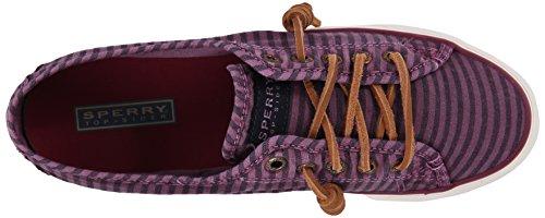 Sperry Top-sider Dames Zeekraal Gestreepte Oxford Fashion Sneaker Bordeauxrood