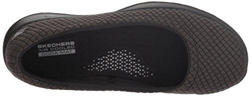 Skechers Performance Women's GO Walk Lite-15402 Ballet Flat,black,7.5 M US
