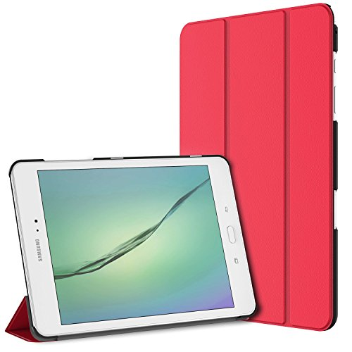 JETech Case for Samsung Galaxy Tab A 9.7 inch Tablet with Auto Sleep/Wake Feature, Red