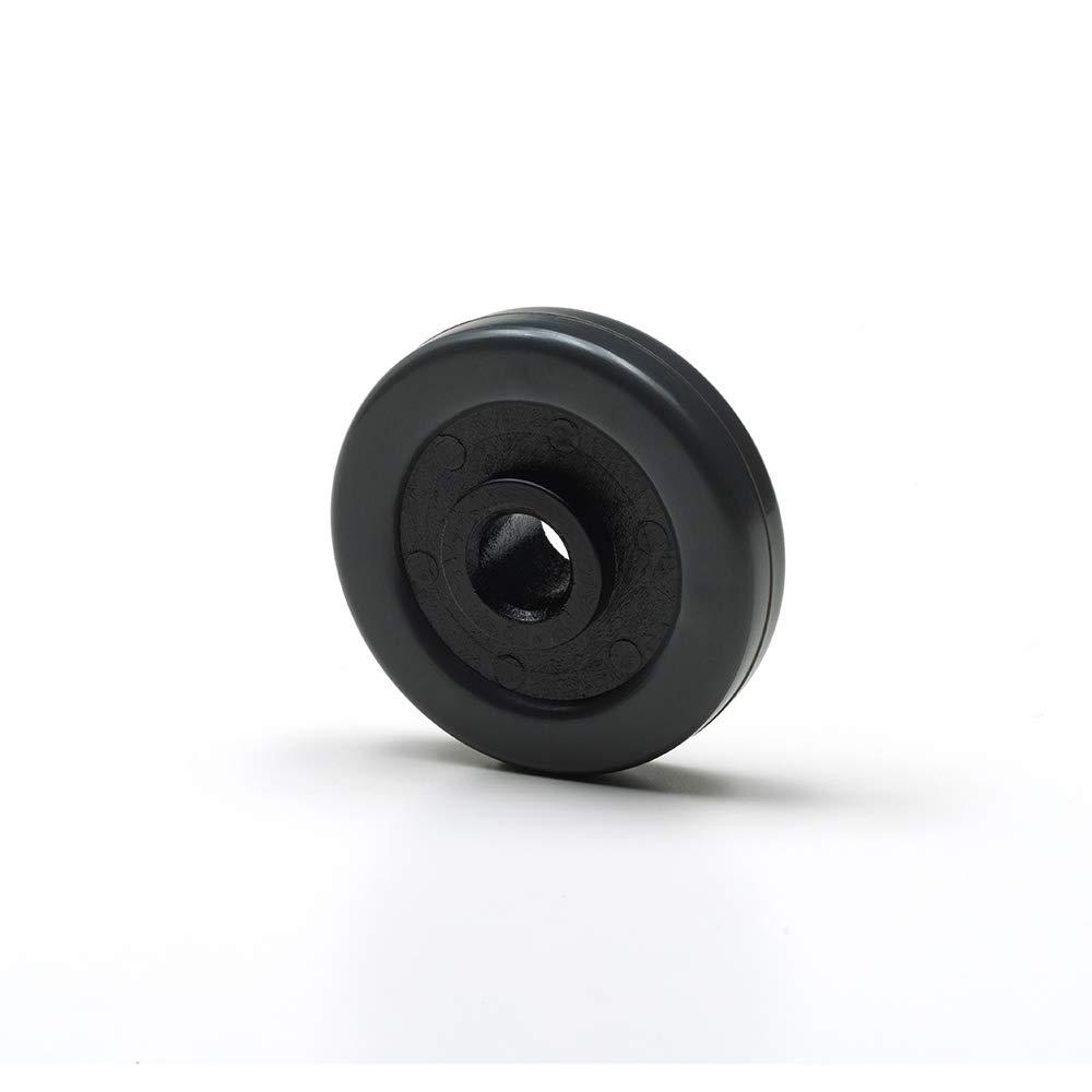 Foppapedretti 4 Ruote gommate per Mobili da Stiro Nero