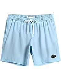 a5c2b506bf Mens Quick Dry Solid 4 Way Stretch Swim Trunks Mesh Lining Swimwear Bathing  Suits 281118513