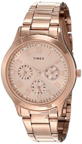 Timex Analog Gold Dial Women #39;s Watch   TW000Q810