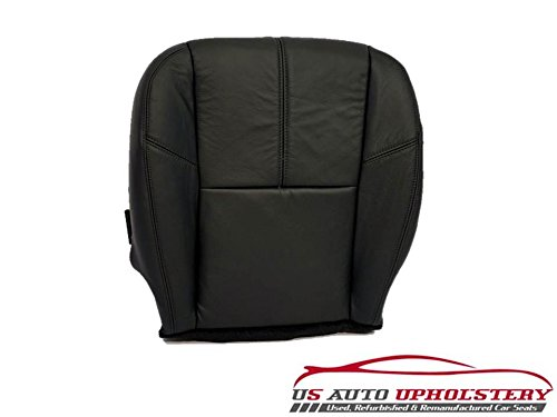 07-12 GMC Sierra SLT *Driver Bottom Replacement Leather Seat Cushion Cover BLACK