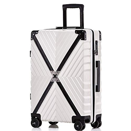 YX XY Trolley case - ABS/PC, TSA Combination Lock, Large Capacity, Retro Embossed Texture Anti-Collision Caster Student Boarding - 3 Colors 3 Sizes Optional Luggage Sets