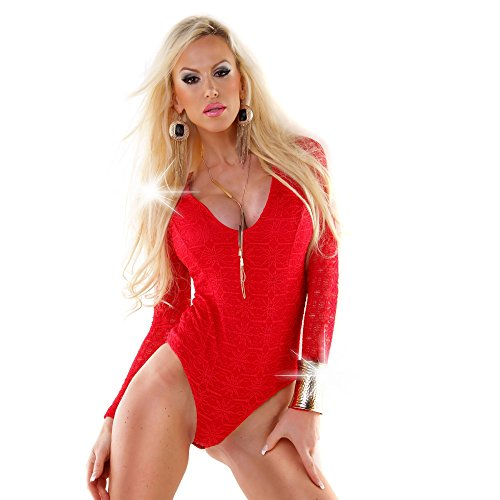 WeaModa - Body - para mujer Rojo