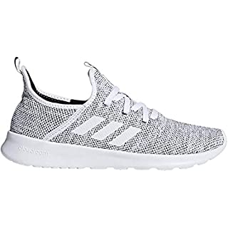 adidas Women's Cloudfoam Pure Running Shoe, white/white/black, 6 Medium US