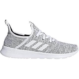 adidas Women's Cloudfoam Pure Running Shoe, white/white/black, 10 Medium US