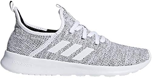 adidas Performance Women's Cloudfoam Pure Running Shoe, White/White/Black, 6.5 M US