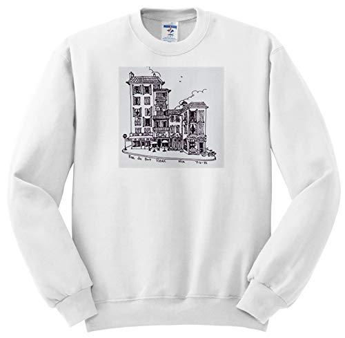 Vieux Port - 3dRose Danita Delimont - France - Rue du Port Vieux in Nice, France - Adult Sweatshirt XL (ss_313147_4)