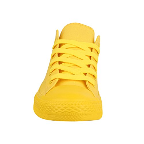 Basic Baskets All Femmes Elara Lacets Low Sport Yellow Chaussures De Loisirs qRxvSx0w