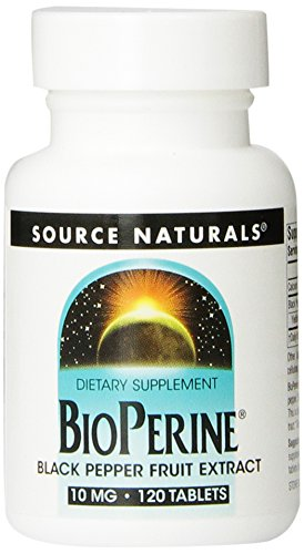 Source Naturals Bioperine Black Pepper Fruit Extract 10mg, Promotes Nutrient Absorption,120 Tablets  (Pack of (Pepper Fruit)