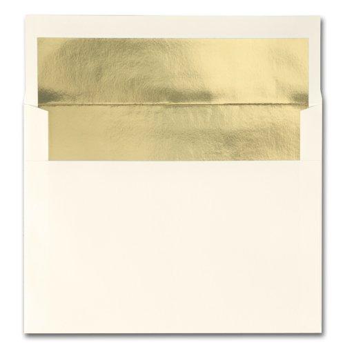 Fine Impressions Ecru Envelopes with Gold Liner - A6 (4 3/4 x 6 1/2) 70 lb Text Vellum - 250 per Box
