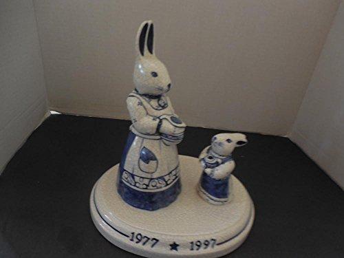 """Limited Edit 66 / 2000 Dedham Potting Shed 9-3/4"""" Rabbits 1977 1997"""