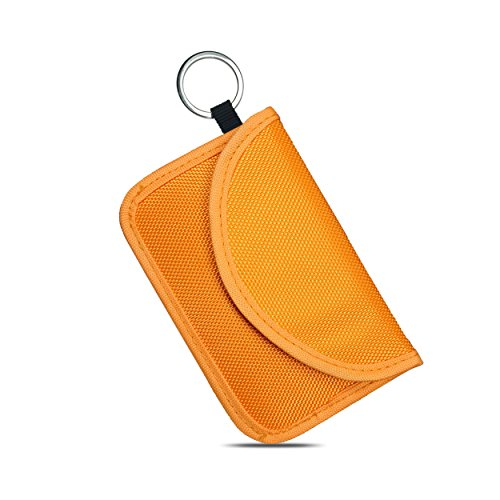 Naviurway Orange Key Fob Holder RFID Signal Blocking Pouch Bag for Keyless Entry Remote Fob NFC Bank Card Driver - Car Dodge Brothers