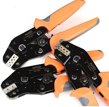 デチコネクタ用ハンドツール圧着ペンチ4点圧着端子プライヤー圧着工具クローズバレルクリンパ