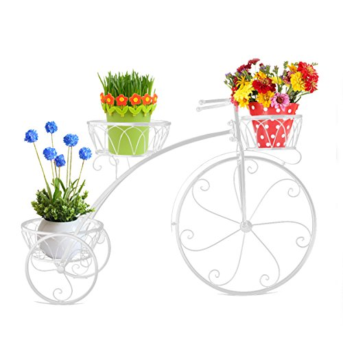 Dazone White Vintage Parisian Style Tricycle 3 Tier White...