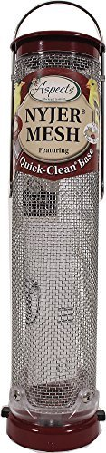 Aspects 431 Quick Clean Nyjer Mesh Tube Bird Feeder