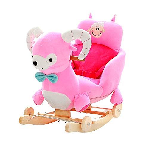 ZFF Baby Kid Rocking Animal Rocking Horse Toys Children Toddler Toy, Animal Sound, with Soft Seat, Alpaca Rocker Chair -