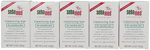 New Sebamed Paraben-Free Cleansing Bar Soap (5-Pack) for Sensitive Skin