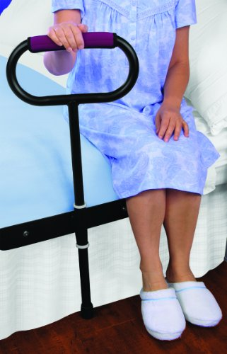 CUSHIONED BEDSIDE SUPPORT RAIL - GREAT SUPPORT FOR GETTING IN AND OUT OF BED! - Bedside Support Rail