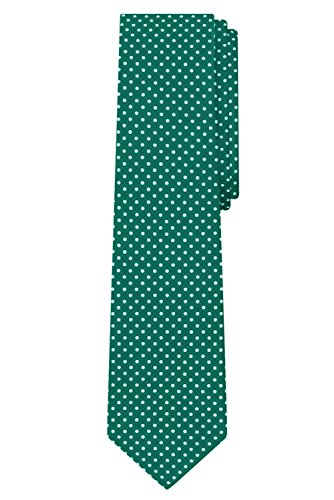 Jacob Alexander Polka Dot Print Boys Regular Polka Dotted Tie - Forest Green