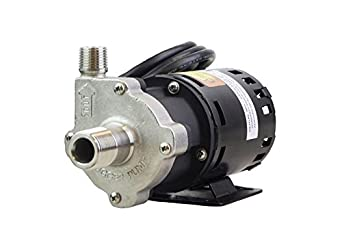 """Chugger Pumps CPSS-CI-1 Center Home Brew Beer Pump, Magnetic Drive with Base, 115V, 55"""" Cord with Plug, 3/4"""" Inlet x 1/2"""" MPT Outlet"""