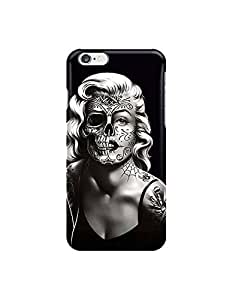 """marilyn monroe skull face tattoo ?custom iphone 6 Plus 5.5 inches case,durable iphone 6 Plus hard full wrap back case cover for iphone 6 Plus 5.5"""""""
