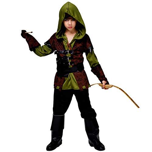 Boy's Hunter Deluxe Halloween Party Costume (7-9) Green ()