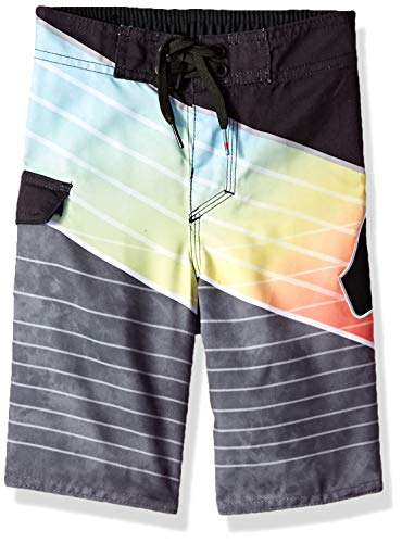 Quiksilver Little Slash Logo BOY Boardshort Swim Trunk, Black, 6