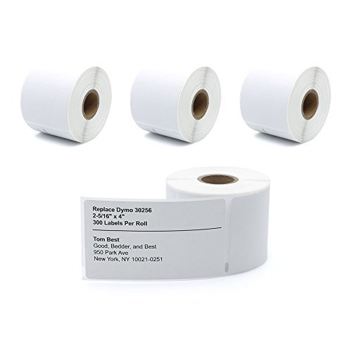 30256 4 Rolls Dymo-Compatible Large Shipping Labels 59 mm x 102 mm (2-5/16'' x 4'') 300/Roll for LabelWriter 400 450 Duo Twin Turbo 4XL Printer by MarkDomain