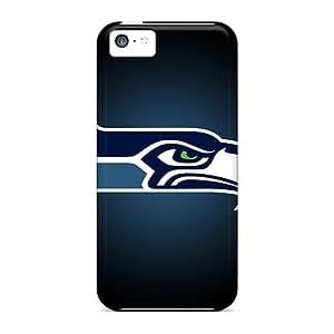 Anti-Scratch Hard Phone Covers For Iphone 5c (BKi8564ETQe) Customized Fashion Seattle Seahawks Skin