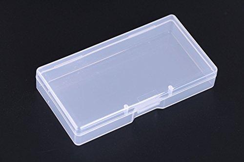 Mini Skater - Caja de plástico transparente con tapa para organizar pequeñas piezas, cazuelas de algodón, adornos y mucho...