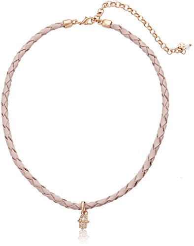 Lucky Brand Hamsa Leather Choker Necklace - Hamsa Leather