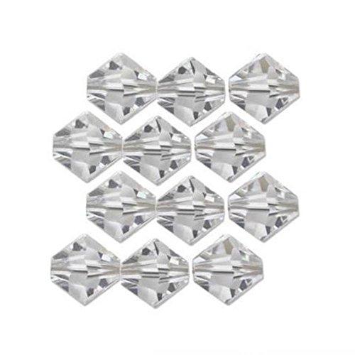12 Clear Bicone Swarovski Crystal Beads 5301 3mm New