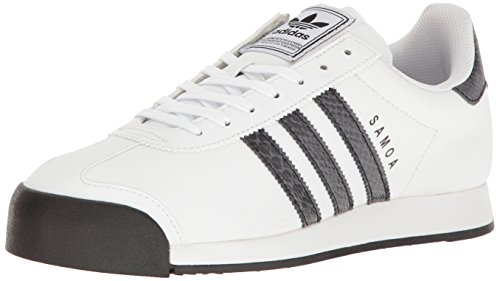 adidas Originals Men's Samoa Fashion Sneaker, White/Black/Dark Onix, 10 M US
