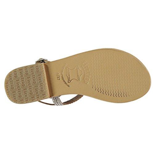 Firetrap Womens Blackseal Lily Lazer Flat Sandals Silver Leather UK 4 (37) JgdHBAoRM