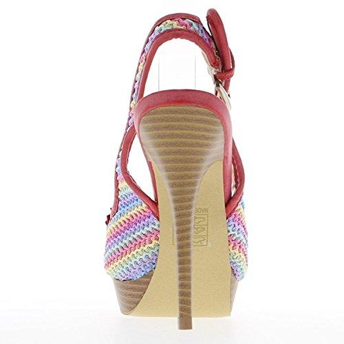 Multicoloured tacco 13 cm e piattaforma sandali