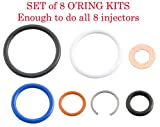 Alliant Power # AP0002 G2.8 Injector Seal Kits (Set of 8) compatible with 2003-2010 6.0L/4.5L Power Stroke Engine