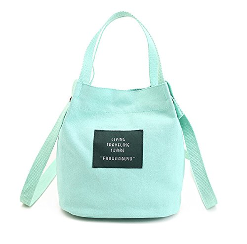 Micom Canvas Simple Korean Green Bucket Light Shoulder Bag Crossbody Handbag Small Women for rwqpOrE