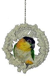 Super Bird Creations 9 by 7-Inch Snuggle Ring Bird Toy, Medium