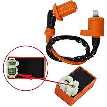 QAZAKY Ignition Coil for NX125 NX250 SB50 SB50P SE50 SE50P TR200 TRX125 TRX200 TRX200D TRX200SX TRX250 TRX250EX TRX250R TRX250TE TRX250TM TRX300 TRX350 TRX350D TRX350FE TRX350FM TRX350TE TRX350TM