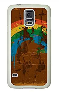 Vintage Rainbow White Hard Case Cover Skin For Samsung Galaxy S5 I9600