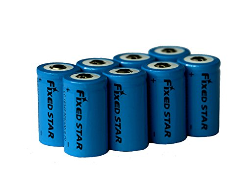 Fixed Star 8 Pcs 800Mah 16340 3.7V Rechargeable Lithium ion Battery, Rechargeable Replacement CR123A (Rechargeable Lithium Replacement Battery)