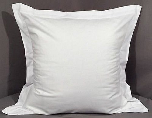 KV Collection Hotel Quality 600-Thread-Count Egyptian Cotton Euro 26''x26'' two Pieces Pillow Sham White Solid