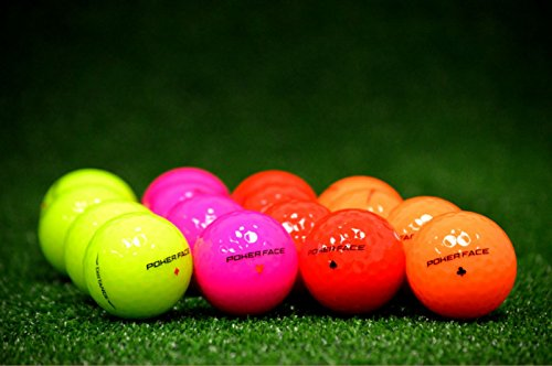 Poker Face 2 Piece Color Golf Ball Just Released New Brand Red Pink Neon Green Orange (2 DOZEN)