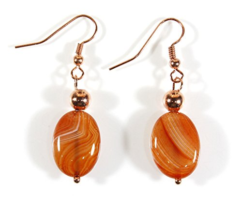 Orange Agate Earrings - 9