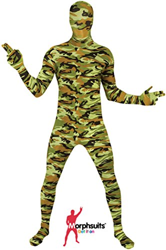 "[Commando Kids Morphsuit Fancy Dress Costume - size Large 4""1-4""6 (123cm-137cm)] (Army Men Halloween Costumes)"