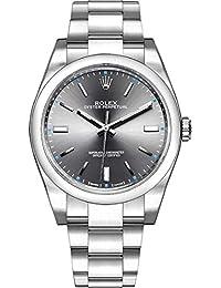 Oyster Perpetual 114300 Dark Rhodium Dial Mens Watch